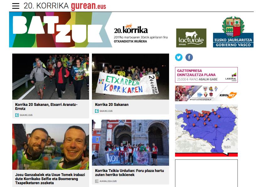 Página patrocinada de Korrika en Gurean.eus